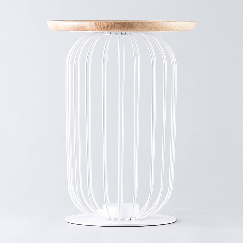 Stehlampe LED aus Holz und Metall Gabi, Galeriebild 1
