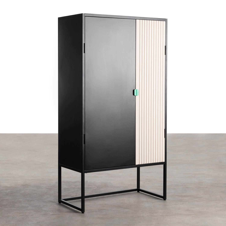 Sideboard-Schrank mit 2 Türen aus Holz und Metall Est, Galeriebild 1