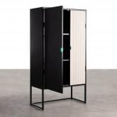 Sideboard-Schrank mit 2 Türen aus Holz und Metall Est, Miniaturansicht 3