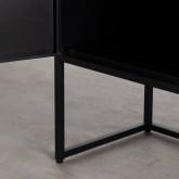 Sideboard-Schrank mit 2 Türen aus Holz und Metall Est, Miniaturansicht 8