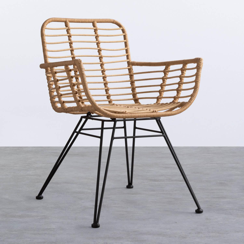 Stuhl aus synthetischem Rattan Abeige, Galeriebild 1