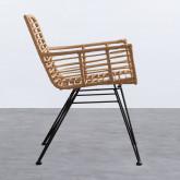 Stuhl aus synthetischem Rattan Abeige, Miniaturansicht 2