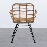 Stuhl aus synthetischem Rattan Abeige, Miniaturansicht 3