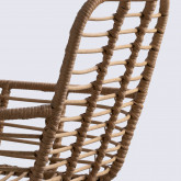Stuhl aus synthetischem Rattan Abeige, Miniaturansicht 4