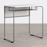 Schreibtisch mit Ablage aus ABS und MDF Brel, Miniaturansicht 1