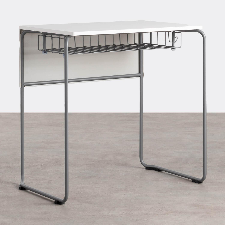 Schreibtisch mit Ablage aus ABS und MDF Brel, Galeriebild 1