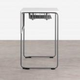 Schreibtisch mit Ablage aus ABS und MDF Brel, Miniaturansicht 3