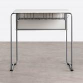 Schreibtisch mit Ablage aus ABS und MDF Brel, Miniaturansicht 5