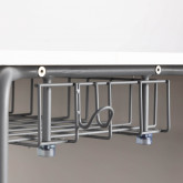 Schreibtisch mit Ablage aus ABS und MDF Brel, Miniaturansicht 8