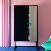 Sideboard-Schrank mit 2 Türen aus Holz und Metall Est, Miniaturansicht 2