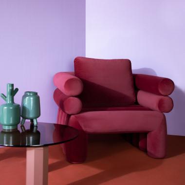 Sessel aus Samt Kunda