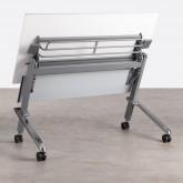Klappschreibtisch mit Rädern PVC und Stahlgestell Bastid, Miniaturansicht 3