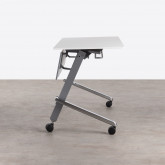 Klappschreibtisch mit Rädern PVC und Stahlgestell Bastid, Miniaturansicht 4