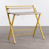 Klappbarer Schreibtisch aus Holz und Metall Worki, Miniaturansicht 1