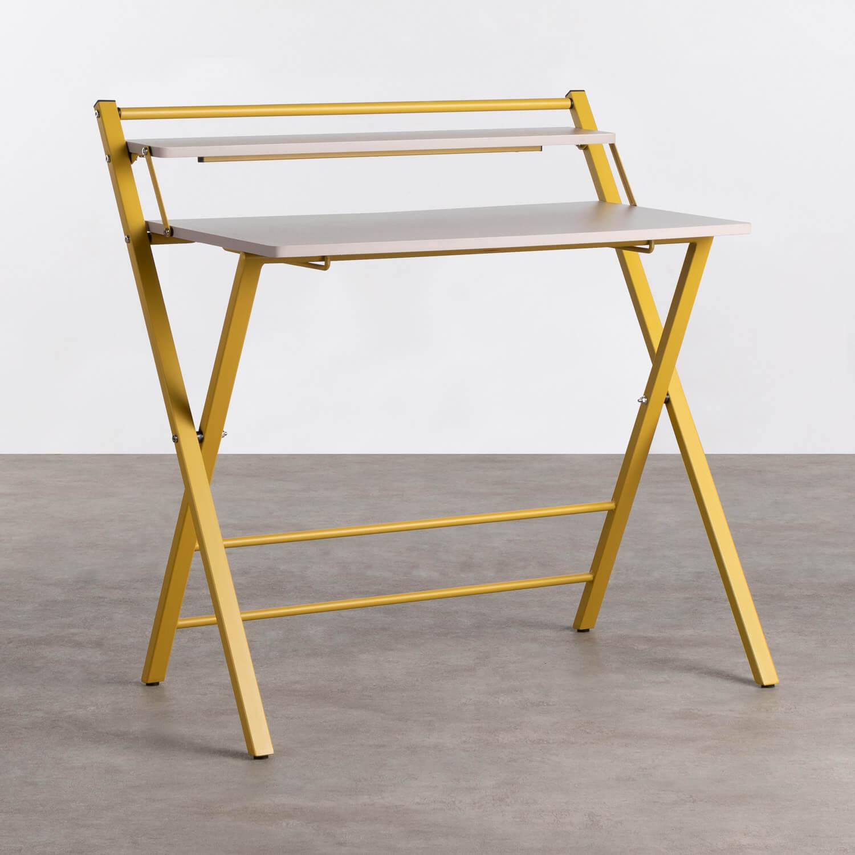 Klappbarer Schreibtisch aus Holz und Metall Worki, Galeriebild 1