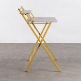 Klappbarer Schreibtisch aus Holz und Metall Worki, Miniaturansicht 3