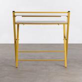 Klappbarer Schreibtisch aus Holz und Metall Worki, Miniaturansicht 4