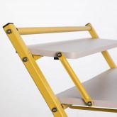 Klappbarer Schreibtisch aus Holz und Metall Worki, Miniaturansicht 6