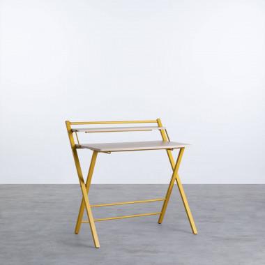 Klappbarer Schreibtisch aus Holz und Metall Worki