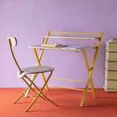 Klappbarer Schreibtisch aus Holz und Metall Worki, Miniaturansicht 2