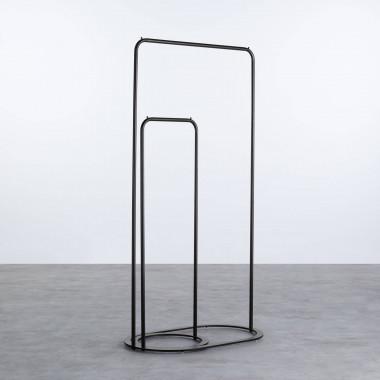 Gaderobenständer aus Stahl (120/160 cm) Colin