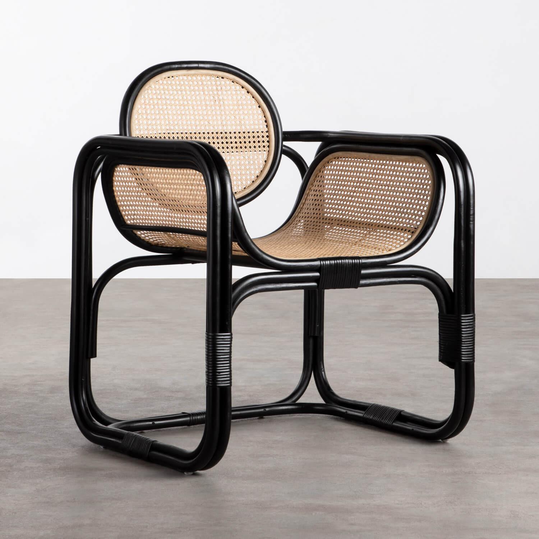 Sessel mit Armlehnen aus Natur-Rattan Emba, Galeriebild 1