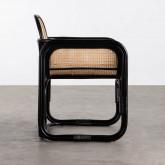 Sessel mit Armlehnen aus Natur-Rattan Emba, Miniaturansicht 3