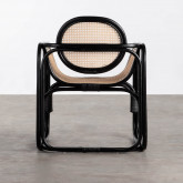 Sessel mit Armlehnen aus Natur-Rattan Emba, Miniaturansicht 4