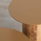 Set aus 2 Beistelltischen aus Holz und Metall Erza, Miniaturansicht 3