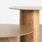 Set aus 2 Beistelltischen aus Holz und Metall Erza, Miniaturansicht 4
