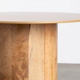 Set aus 2 Beistelltischen aus Holz und Metall Erza, Miniaturansicht 5