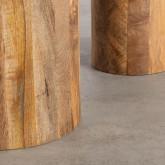 Set aus 2 Beistelltischen aus Holz und Metall Erza, Miniaturansicht 6