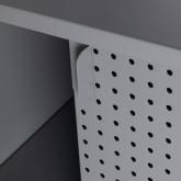 Niedriges Sideboard aus laminiertem Stahl und Glas Otse, Miniaturansicht 7