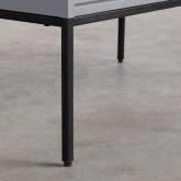 Niedriges Sideboard aus laminiertem Stahl und Glas Otse, Miniaturansicht 9