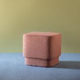 Quadratischer Pouff aus Stoff Escua, Miniaturansicht 2