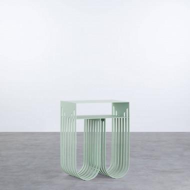 Beistelltisch und Zeitschriftenständer aus Stahl (35,5x26 cm) Orev