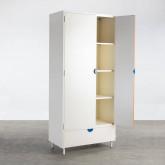 Garderobenschrank 2 Türen aus Holz und Metall Kuno  , Miniaturansicht 3