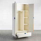 Garderobenschrank 2 Türen aus Holz und Metall Kuno  , Miniaturansicht 4