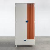 Garderobenschrank 2 Türen aus Holz und Metall Kuno  , Miniaturansicht 5