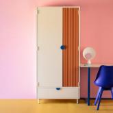 Garderobenschrank 2 Türen aus Holz und Metall Kuno  , Miniaturansicht 2