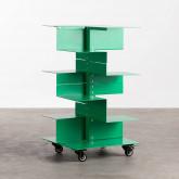 Bücherregal aus Metall mit Rädern Wilde, Miniaturansicht 1