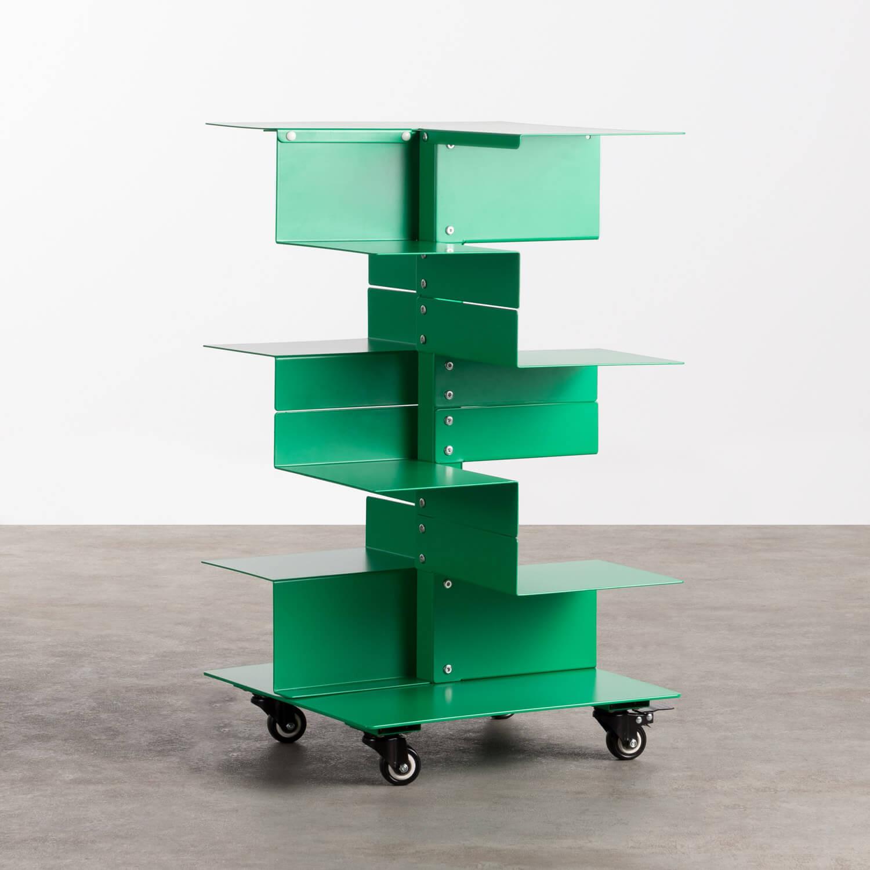 Bücherregal aus Metall mit Rädern Wilde, Galeriebild 1