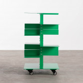 Bücherregal aus Metall mit Rädern Wilde, Miniaturansicht 2