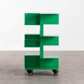 Bücherregal aus Metall mit Rädern Wilde, Miniaturansicht 3