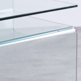 Beistelltisch Quadratisch aus Glas (42x38 cm) Erox, Miniaturansicht 5