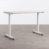 Schreibtisch aus Melamin und Metall Arwen, Miniaturansicht 1