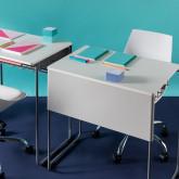 Schreibtisch mit Ablage aus ABS und MDF Brel, Miniaturansicht 2