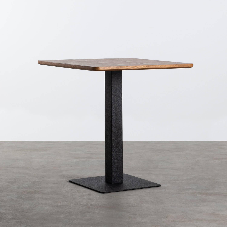 Quadratischer Esstisch asu MDF und Metall (70x70 cm) Bar Square, Galeriebild 1