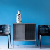 Niedriges Sideboard aus laminiertem Stahl und Glas Otse, Miniaturansicht 3