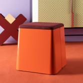 Quadratischer Pouff  mit Stauraum und Rädern aus Metall und Stoff Graos, Miniaturansicht 2